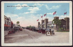 P1416 old unused postcard showing the casino at beach street daytona florida