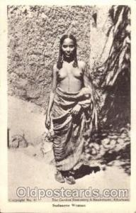 Sudanese Woman African Nude Nudes Postcard Post Card  Sudanese Woman