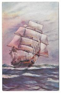 afd Bannister Ship Boat Nautica Litho 01.14