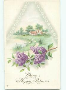 Divided-Back BEAUTIFUL FLOWERS SCENE Great Postcard AA3551