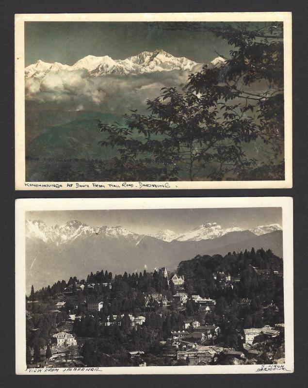 Darjeeling, India vintage postcards incl. 3 rppc (4)
