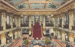 RICHMOND , Virginia , 30-40s; Lobby, Hotel Jefferson