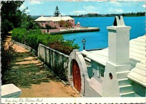 Harbour Road Bermuda Vintage Postcard Posted 1975