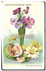 Old Postcard Fantasy Flowers Daisies and Primeveres