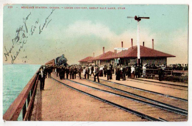 Midlake Station, Ogden Lucin Cut-Off UT