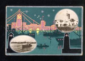 037349 FORMOSA TAIWAN Pier & docks view Vintage PC