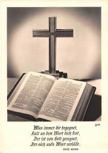 Croix Cross Bible Book opened was immer bir begegnet Fritz Woike
