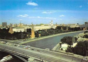 Russia Architectural Monuments, Moscow Kremlin General view Bridge Cars Voitures