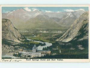 W-Border TOWN VIEW SCENE Banff Alberta AB o1198