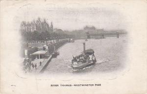 Steamship , River Thames , LONDON , England , 00-10s