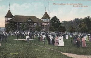 LONDON , Ontario , Canada , PU-1910 : Merrymaking , Springbank Park