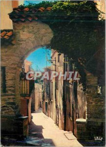 Postcard Modern Bormes les Mimosas (Var) Street Rompicuou Reflections of the ...