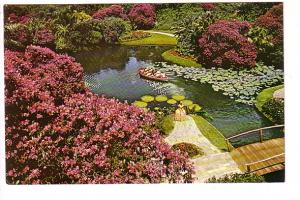 People in Boat, Azaleas, Cypress Gardens, Florida,