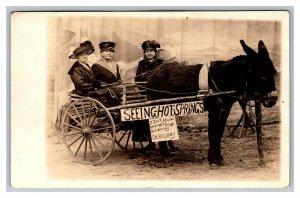 c1910 Postcard Seeing Hot Springs Arkansas 3 Women Cart Donkey Mule pc2150