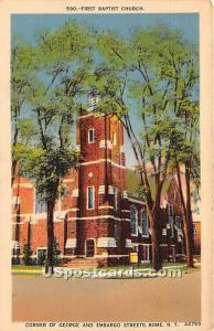 First Baptist Church Rome NY Tape on back