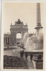 California Postcard Panama–Pacific International Exposition RPPC UNIVERSE Court