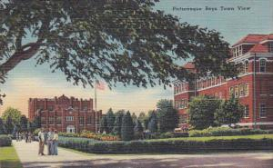 Picturesque Boys Town view,  Boys Town,  Nebraska,  30-40s