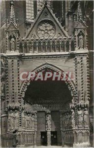 Modern Postcard Metz (Moselle) Cathedrale Notre Dame Portal