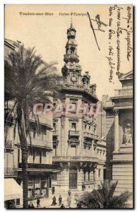 Old Postcard Bank Caisse d & # 39Epargne Toulon Sea