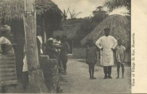 liberia, MONROVIA, Village St. Kor, Natives (1910s)