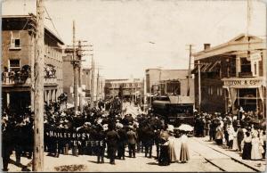 'En Fete' Haileybury Ontario FG Preston & Co. Alfred Jones Law RPPC Postcard E62