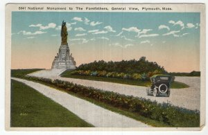 Plymouth, Mass, National Monument to The Forefathers, General View