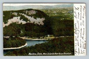 Meriden CT-Connecticut, Scenic Mine Islands Poor House Mountain Vintage Postcard