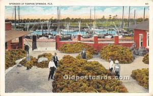 Sponges Tarpon Springs, Florida, FL, USA 1934