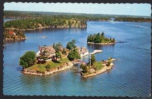 ON NY 1000 Islands Aerial ZAVIKON ISLAND Shortest Inter Bridge World 1950-1970s