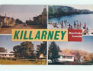 Pre-1980 TOWN VIEW SCENE Killarney Manitoba MB p9776