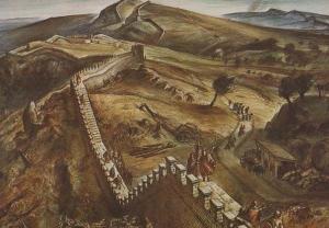 Walltown Crags Roman Wall Northampton Aerial View Rare Postcard