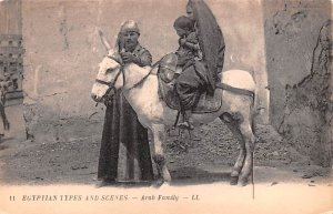 Arab Family Egypt, Egypte, Africa Unused
