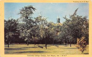 Fort Wayne Indiana~Concordia College Campus~Lots of Trees~1948 Kodachrome Pc