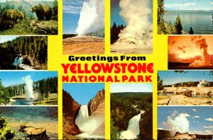 Wyoming Greetings From Yellowstone National Park Multi View