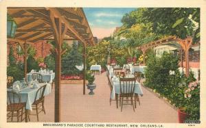 1940s Broussards Paradise Courtyard Restaurant New Orleans Louisiana Tichnor