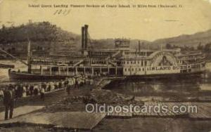 Island Queen Steamer, Steam Boat, Steamboat, Ship, Ships, Postcard Post Cards...