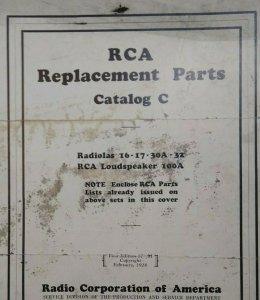 RCA Radiolas B Eliminator Parts Catalog C Loudspeakers Vintage Radio Victor 1928