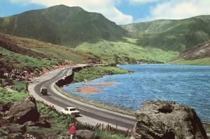 UK - Wales, Llyn Ogwen Lake & Snowdonia Mountain Range from Nant FFrancon Pass