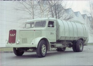 Vintage Trucks on Postcards GERMANY 1937 MAN F4, 150 PS, 6 Zylinder