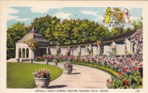 Pergola, Oake's Garden Theatre, NIAGARA FALLS, Ontario, Canada, PU-1947
