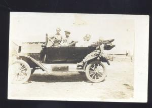RPPC ANTIQUE VINTAGE AUTO CAR AUTOMOBILE HUPMOBILE OLD REAL