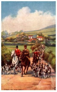 Dog , Fox Hunt ,  Going to the Meet