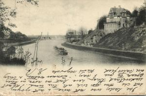 germany, LÜBECK, Elbe-Trave-Kanal und Navigations-Schule (1905)