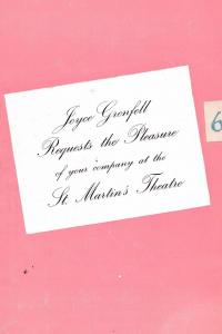 Joyce Grenfell Musical St Martins Theatre Rare London Programme