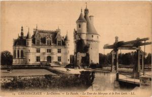 CPA CHENONCEAUX - Le Chateau - La Facade - La Tour des Marques et le (298982)
