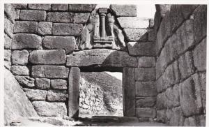 RP: Mycenes . Porte des Lions , Greece , 20-30s
