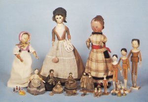 Victorian Wooden Dolls Isle Of Wight Lilliput Museum Postcard