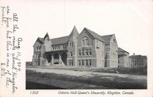 Ontario Hall, Queens University, Kingston, Canada, Very Early Postcard, Unused