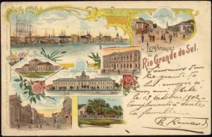 brazil, RIO GRANDE DO SUL, Multiview, Estacão Station, Rua Pedro, Hospital 1902