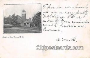 Churches Vintage Postcard Mont Vernon, NH, USA Vintage Postcard Church at Mon...